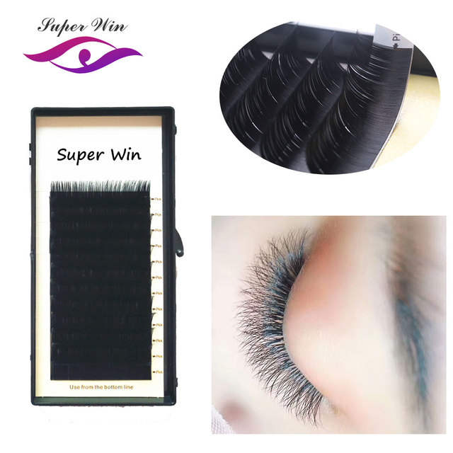 96ac14af7a8 SuperWin 16 lines C D curl 19mm New Products BOOM Lash 1mm Tape Eyelash  Extension Easily to