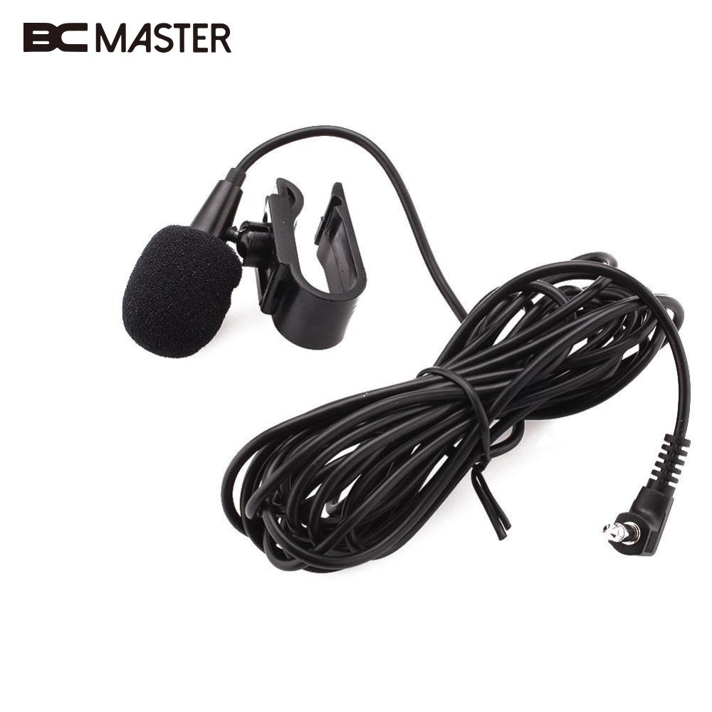 BCMaster 3.5mm Jack Wired Mini Lavalier Mic Tie Collar Shirt Clip Microphone for Car