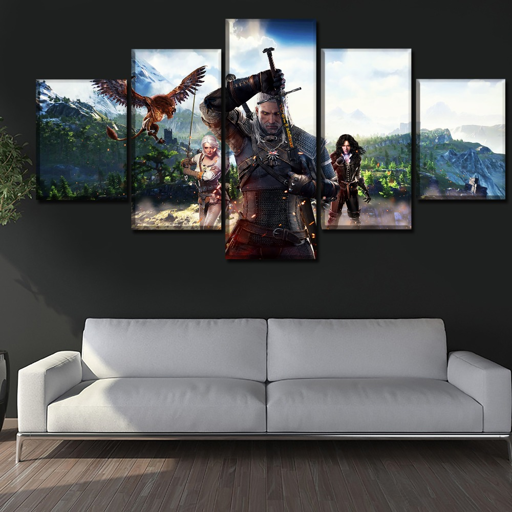 5 pcs Full Square 5D DIY Diamond Painting The Witcher Wild Hunt diamond Embroidery Cross Stitch