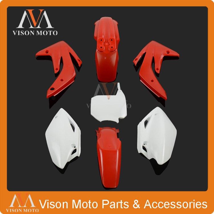 Body Plastics Kits Side Cover Fairings for Honda CRF125R CRF150RB 2007-2013