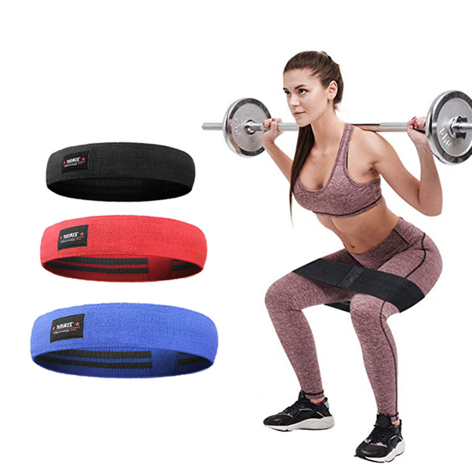 Hip Resistance Elastic Bands Fitness Workout Leg and Glute Loop Circle Band