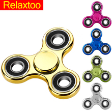 Plastic Fidget Puzzle Spinner EDC Hand Relieve Stress Finger Toy Spinner Plating Old Adult Kid Gift Quality Gyro Toy For Autism