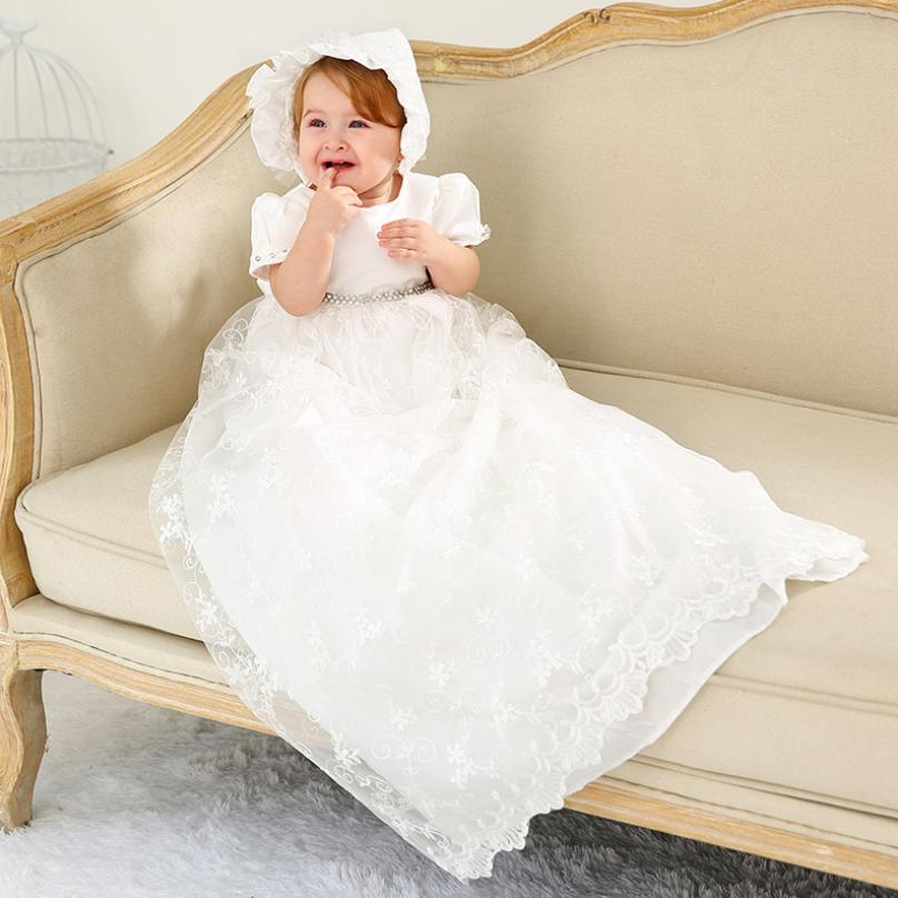 X Long Baby Girl Clothes Newborn Cute Dress Baby Christening Gown Kids Clothes Wedding Dress Birthday Party Dress Y105 Wholesale