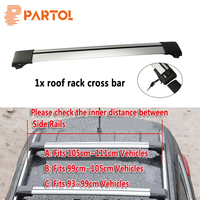1x Car Roof Rack Cross Bars Top Box Luggage Boat Carrier Anti Theft Lock Adjustable Fits