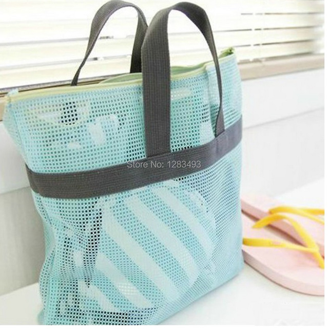 Shower Poratable Caddy Handle Mesh Bathroom Travel Breathable Organizer With Zipper Quick Dry Tote Handy Pouch