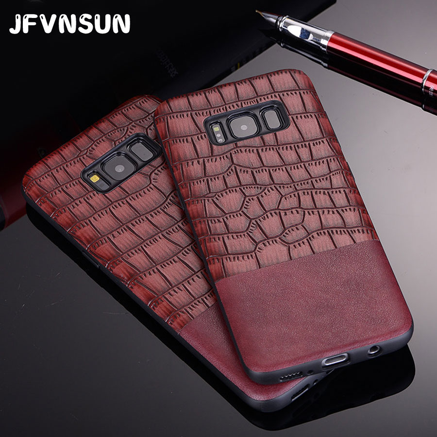 For Samsung S8 Case Luxury Crocodile Skin Leather Case for