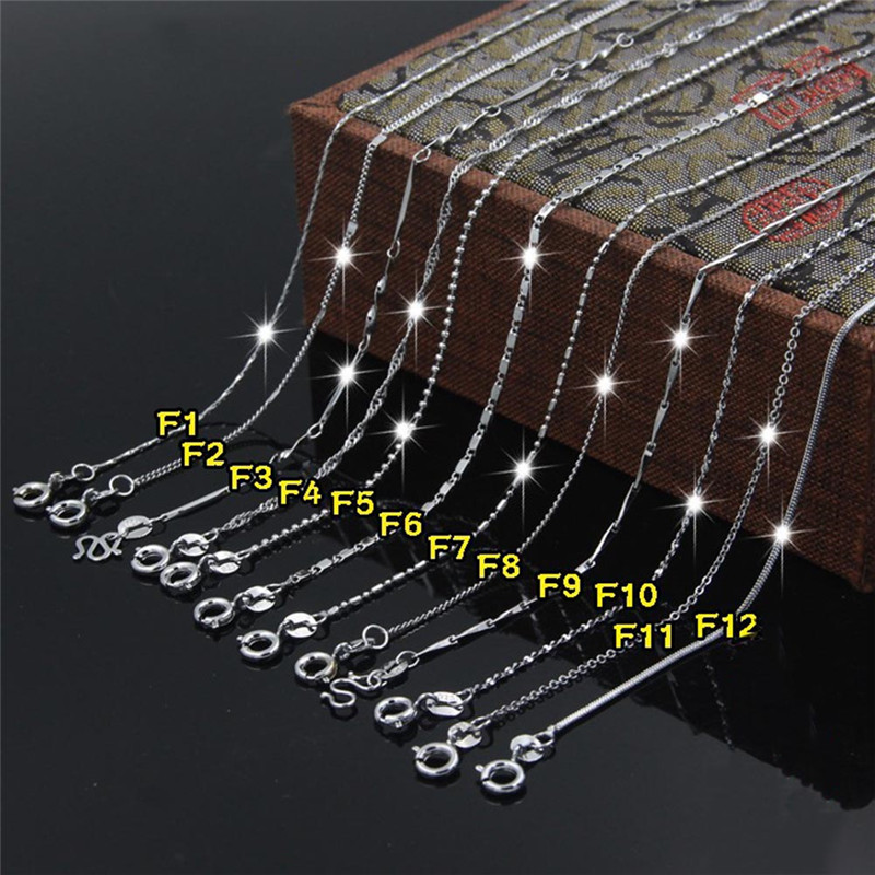 2018 Hot Sale Womens Elegant Silver Color Water Wave Ripple Necklace Chain Fashion Jewelry