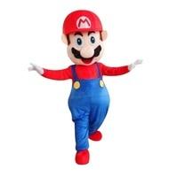 Adult size Super Mario mascot costume free shipping Super Mario Brothers Luigi mascot costume Super Mario mascot