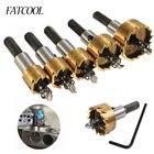FATCOOL 5 Pcs Carbide Tip HSS Drill Bit Saw Set Metal Wood Drilling Hole Cut Tool for Installing 16 / 18.5 / 20/25 / 30mm