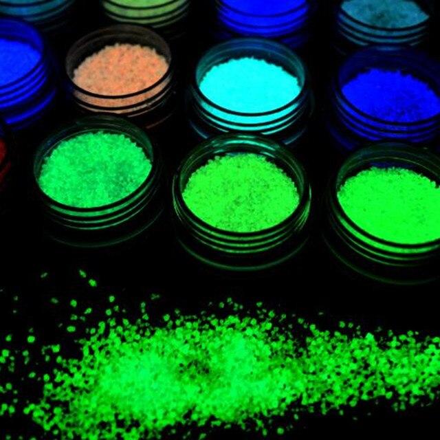 INNAIL 7 Colores esmalte de Uñas Luminoso Glow Glitter Glitter ...