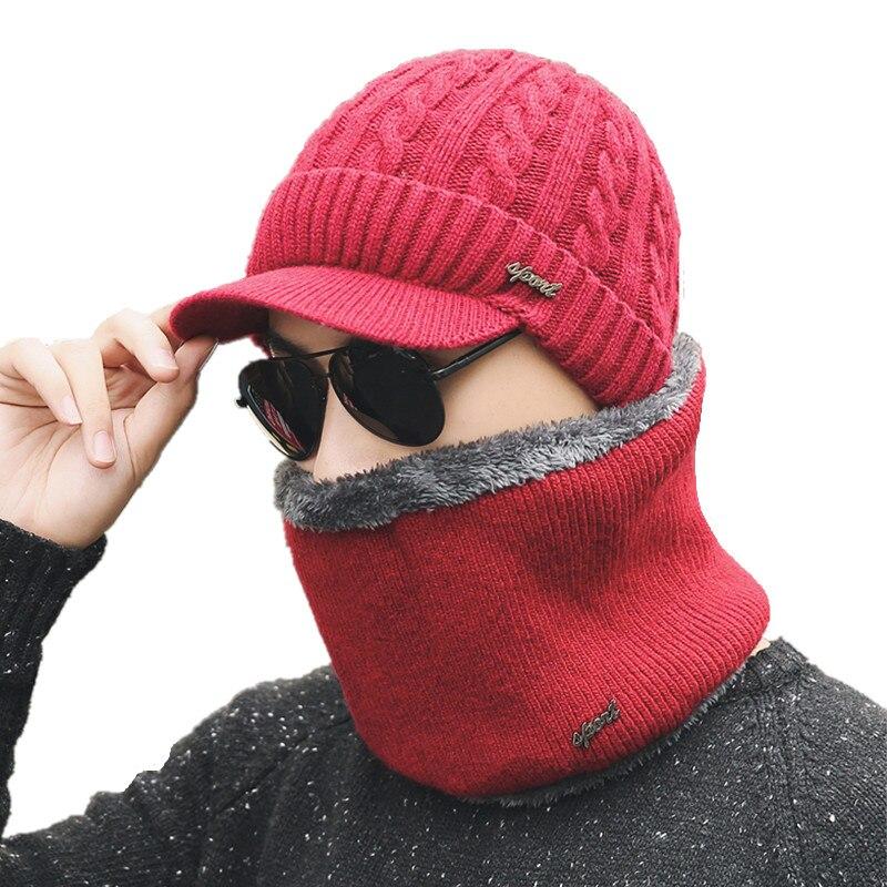 simple Winter Hat   Skullies     Beanies   Hats Winter   Beanies   For Men Women Wool Scarf Caps Balaclava Mask Gorras Bonnet Knitted Hat