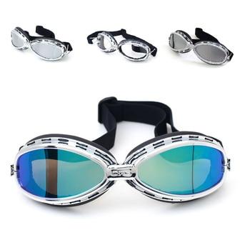 Caliente T05 Estilo Vintage moto rcycle gafas moto cross moto gafas para Scooter gafas aviador piloto Cruiser Anti-UV esquí