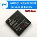 Jeep Bateria j6 100% Novo 3000 mAh Bateria Li-ion para jeep j6 JBK-001/NO. 1X1 Telefone À Prova D' Água-em Estoque + Código Pista