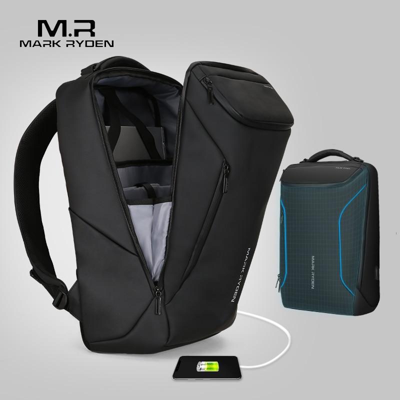 Mark Ryden 2019 New Anti-theft Fashion Men Backpack Multifunction Waterproof 15.6inch Laptop Bag Man USB Travel Charging Bag