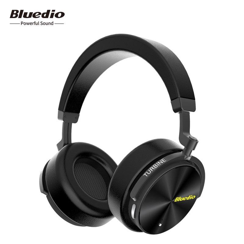 2018 Bluedio T5 Attivo A Cancellazione di Rumore cuffie bluetooth cuffie Senza Fili di Bluetooth Auricolare Con Microfono Per La Musica e I Telefoni