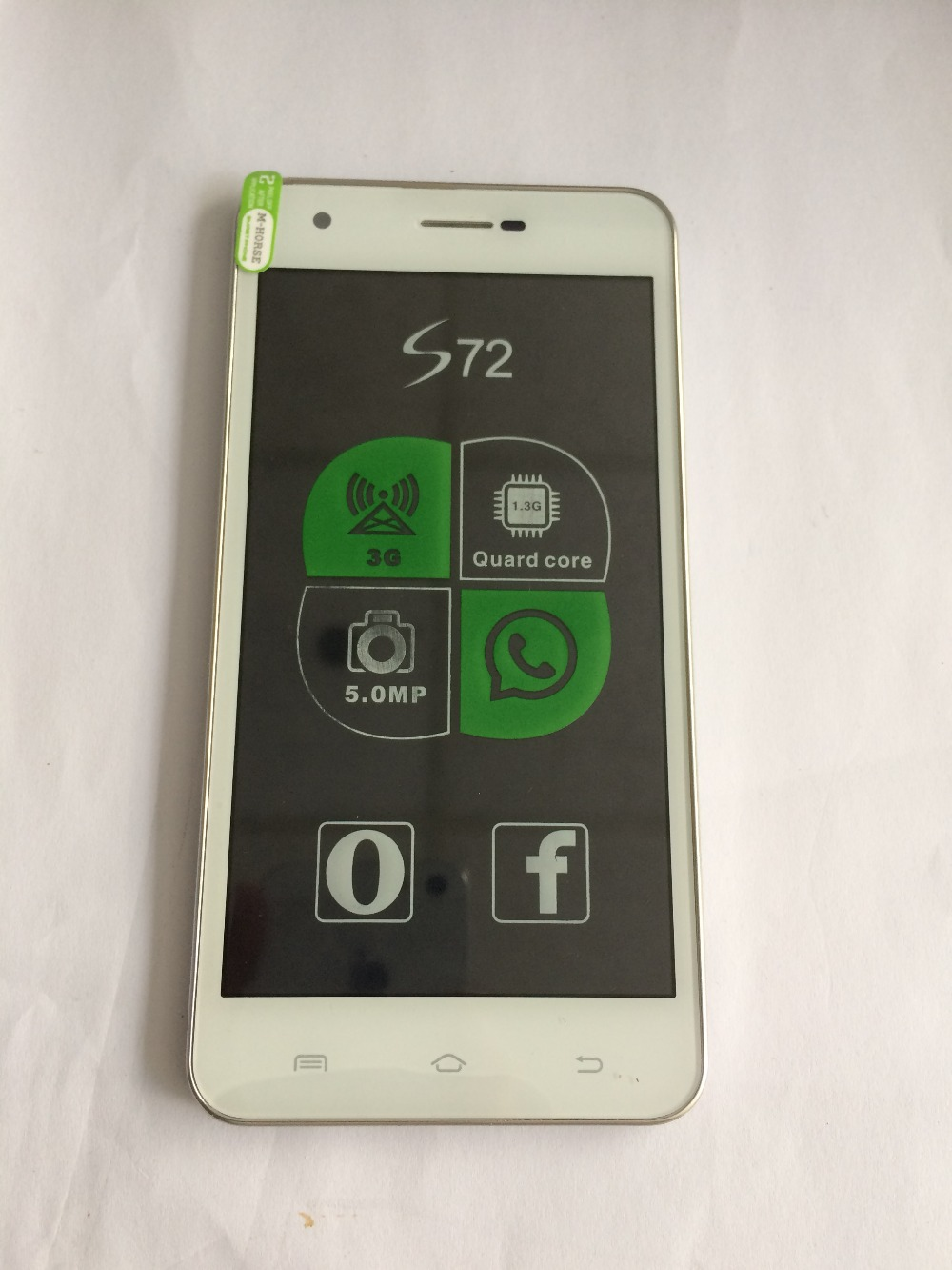 LCD Display + Touch Screen + Frame For Smartphone M-HORSE S72, OS Android 4.2.2, Dual-core, 5.0 Free shipping