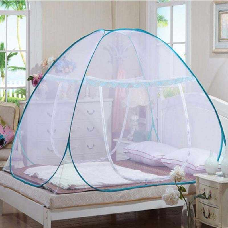 Portable Pop Up Camping Tent Bed Mosquito Net Full Size Netting Bedding