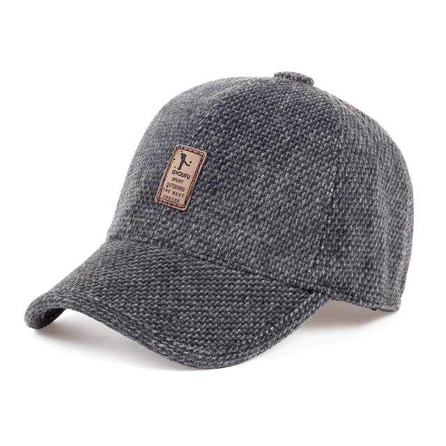 a42cab4118d 2017 Warm Winter Autumn Thickened Baseball Cap With Ears Men S Cotton Caps  Snapback Hats Ear Flaps For Men Dad Hat Sports Hats