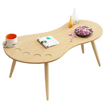 Stoliki do kawy meble do salonu drewniane meble domowe sofa stolik do herbaty basse minimalistyczny nowoczesny kształt stopy biurko 118*60 cm tanie i dobre opinie Meble do domu Nowoczesne China 118*60cm Panel Ecoz Owalne Montaż