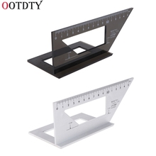 OOTDTY High Quality Aluminum Alloy woodworking rule,Multifunctional Square 45 degrees 90 degrees gauge