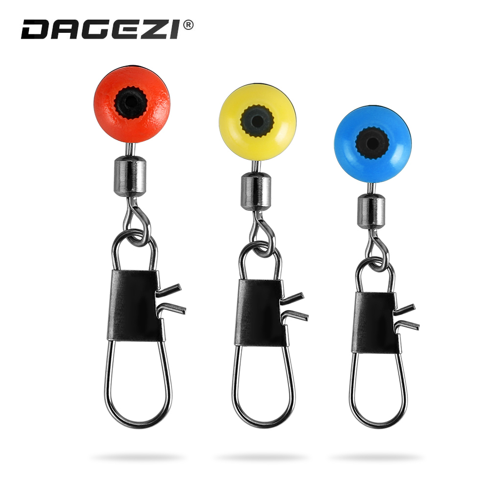 DAGEZI Fishing Connector 25pcs/lot Blue/Red/Yellow Fishing Swivel Solid Ring Interlock Snap For Carp Fishing Tackle Box