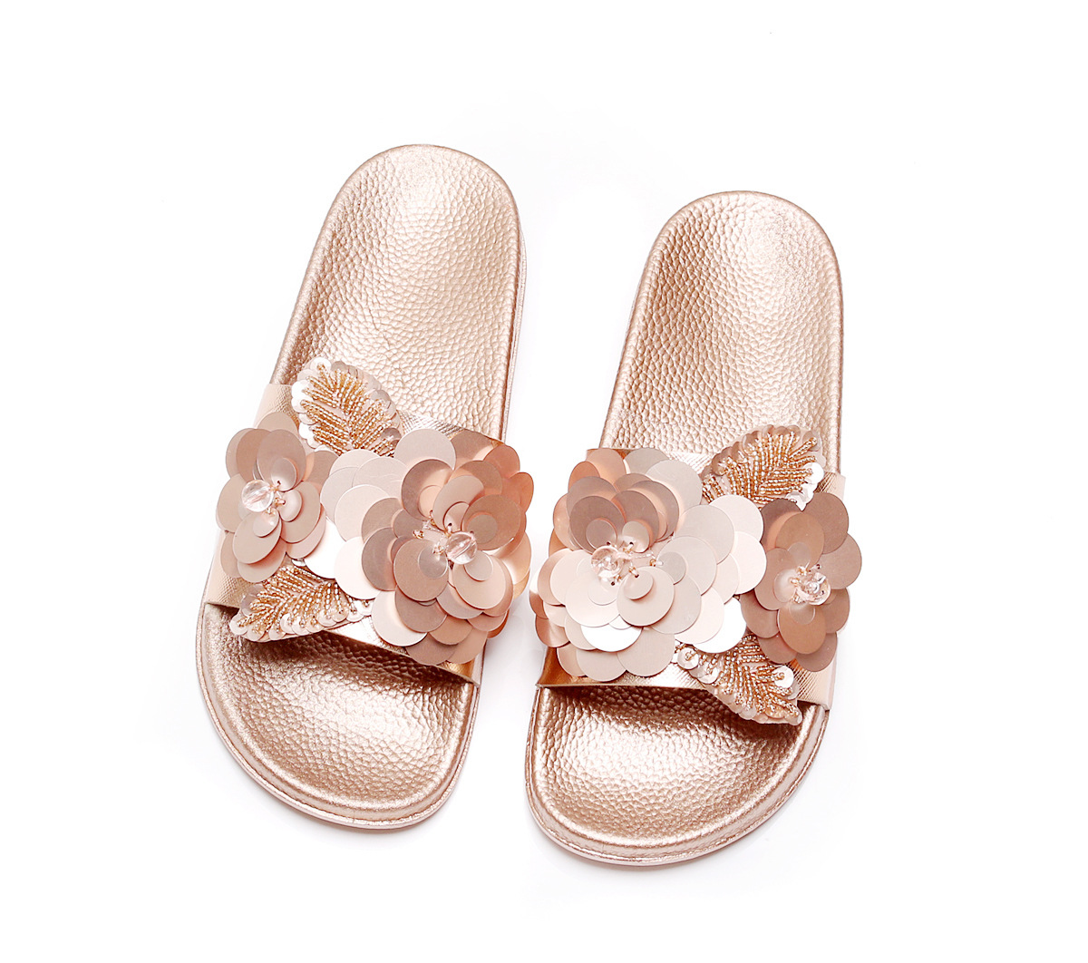 Women Slippers Flip Flops Peep Toe Sandals Glitter Slippers Sandals Platform Comfortable Summer Slippers Woman 201818 woman slippers caf