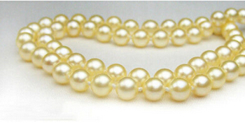 6.5-7mm golden top rating AAAA pearls necklace clasp (17''can choose)>Factory Wholesale price Women Giftword Jewelry