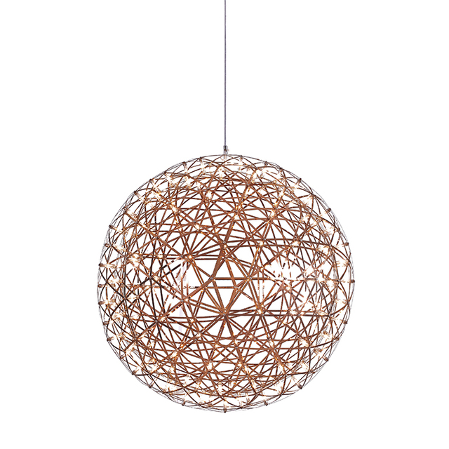 Exceptional Modern Rose Gold Pendant Light Dia 800mm With LED Bulbs Simple Warm White  Indoor Lighting For