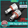 2x H11 LED de Niebla Del Coche DRL Que Conduce la Luz Principal Lámpara de Las Bombillas 6000 k 12 V 24 V DC VENTA