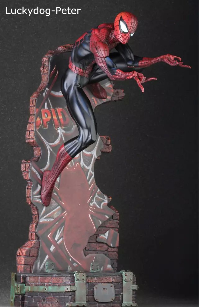 Crazy Toys 18/'/' Amazing Spiderman 2 Black/&Blue PVC 50CM Statue Collection IN BOX