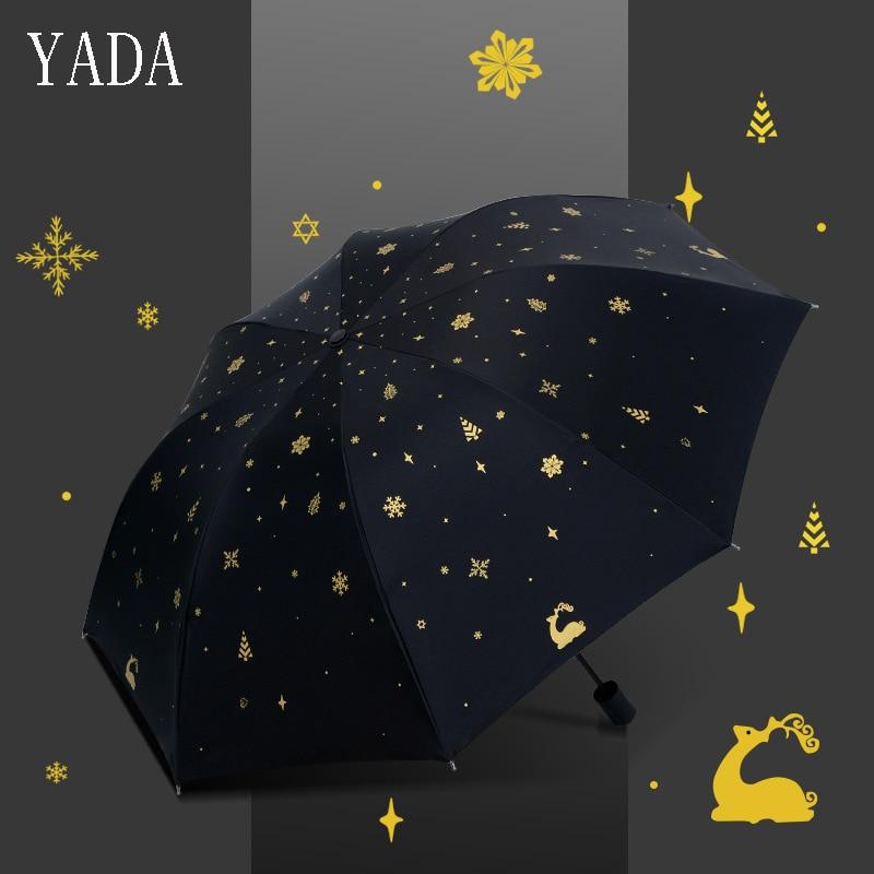 YADA Charms Animals Folding Bronzing Deer Umbrella Rain Women uv High Quality For Womens Custom Parasol Umbrellas YS407