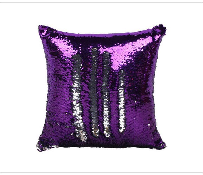 Reversible Sequin Mermaid Decorative Pillowcase 4
