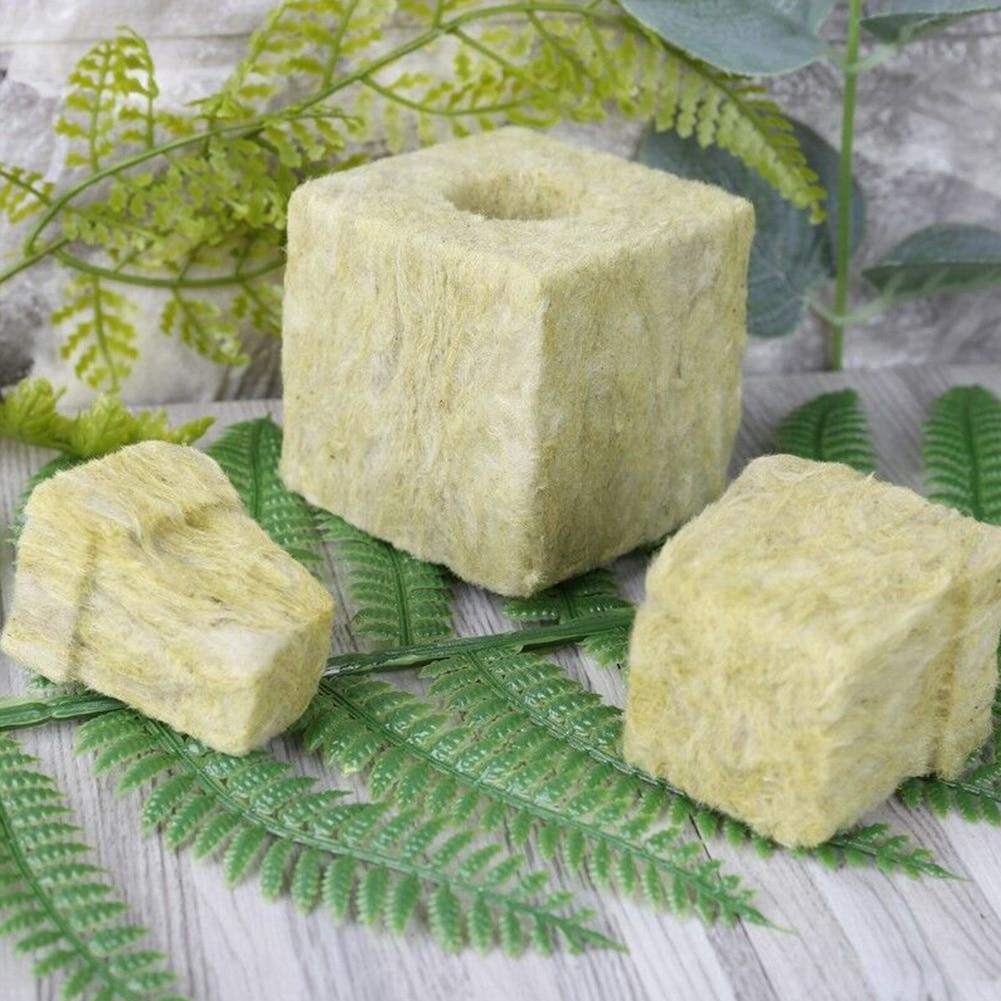 Гидропоники Grow Blocks Rockwool кубики безвредное культивирование вентиляционные средства сжатия база теплица Мини Сад практичный