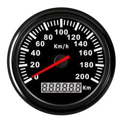 Waterproof Universal Speedometer Gauge 120 km/h ,200 km/h Boat Car Speedometer Gauge With Backlight