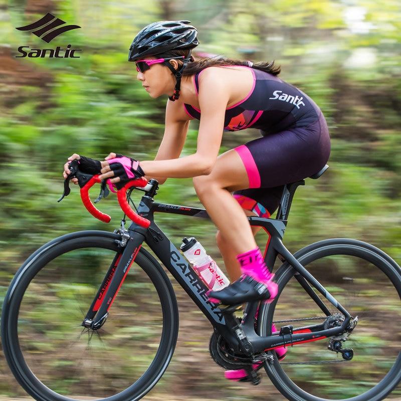 Santic Triathlon Cycling Jersey Women Anti-Pilling Anti-sweat Maillot Ropa Ciclismo Road Bike Bicycle Jersey Cycling Skinsuits veobike men long sleeves hooded waterproof windbreak sunscreen outdoor sport raincoat bike jersey bicycle cycling jacket