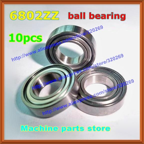 US Stock 10pcs 6802ZZ Deep Groove Double Shielded Ball Bearing 15mm x 24mm x 5mm