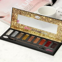 2019 9Color Diamond Sequins Highlight Eye Shadow Set Professional Pearl Matte Cosmetic Shimmer Palette