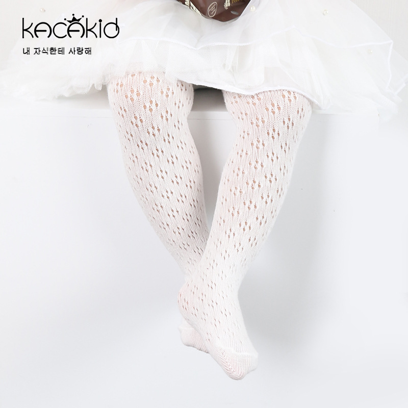 KACAKID Official Store Children Girsl Pantyhose Tights Fishnet Baby Girls Pantyhose Tights Cotton Breathable Girls Tights Ka1145