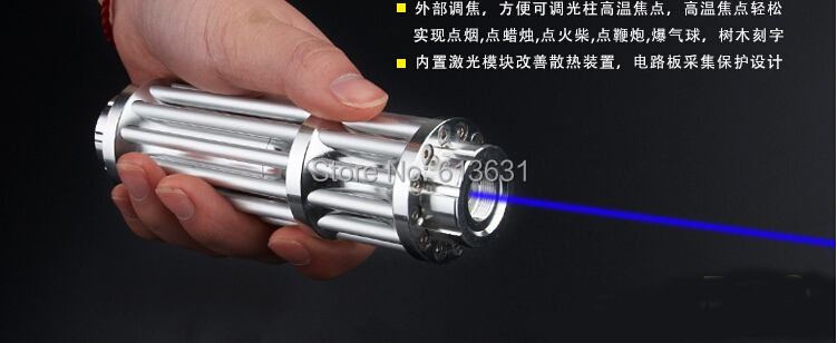 High Quality 100000mw 100W Super Blue Laser Pointers Flashlight Combustion Lgnition / Cutting /Irradiate 5000m laser pen blue