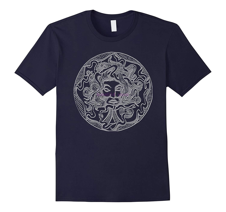 Brand Men Shirt MEDUSA GODDESS OF ANCIENT GREECE EMBOSSED T-SHIRT