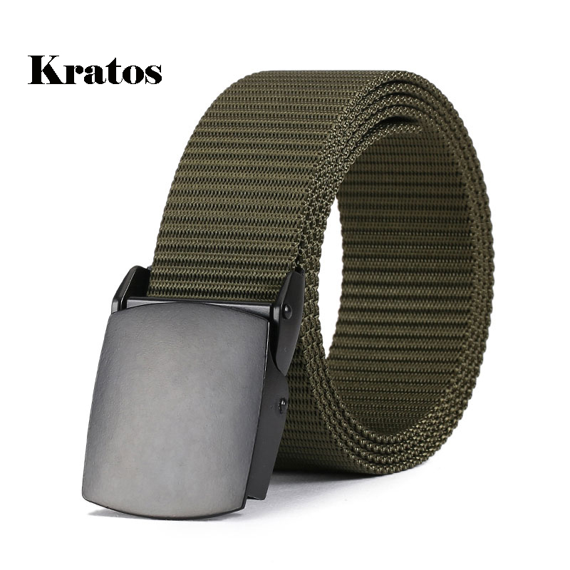 LXLXRURU Belt men Army Tactical Belts man Nylon Leisure Military Waist Canvas male Zinc Alloy buckles High Quality Strap