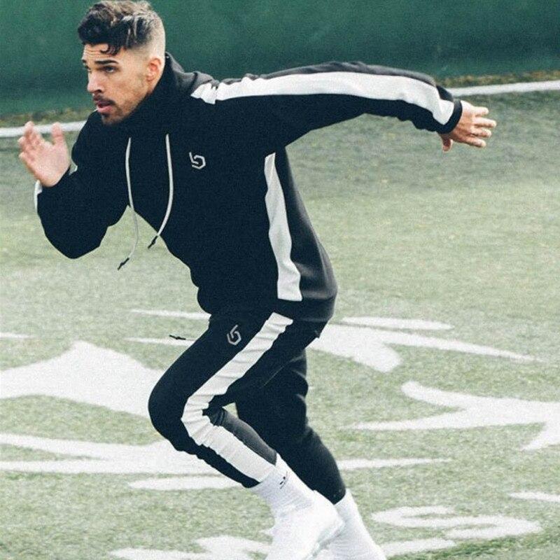 2018 Herbst Anzüge Männer Hoodies Sets M-2xl Große Größe Männer Sportswear Anzug Männliche Trainingsanzug