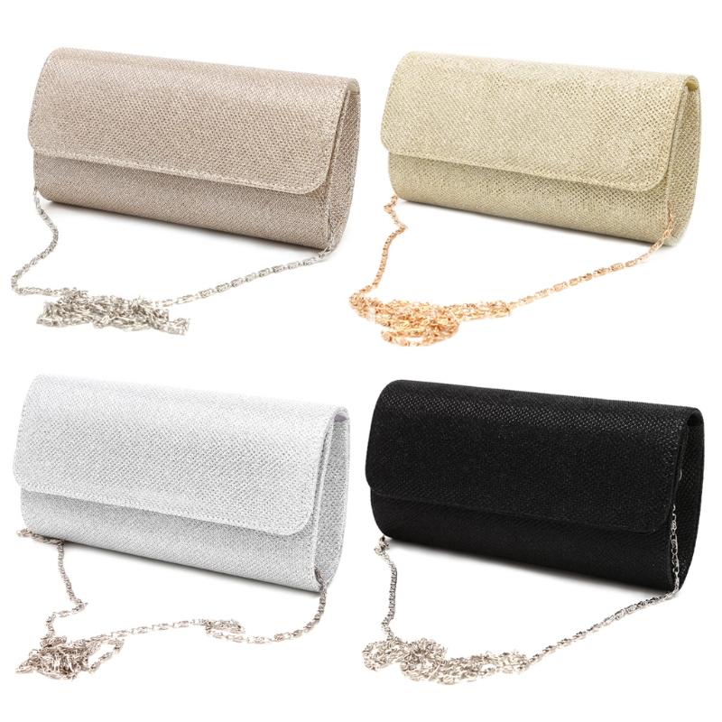 THINKTHENDO Women's Evening Shoulder Bag Bridal Clutch Party Prom Wedding Envelope Handbag(China)