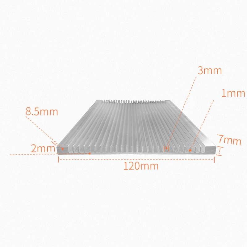 120X7X100/150/200 Mm Radiator Aluminium Heatsink Ultra Tipis Wastafel Panas Router LED IC Elektronik Disipasi Panas Pendingin Cooler