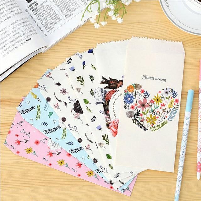 6pcs lot forest bird language envelope writing paper stationery
