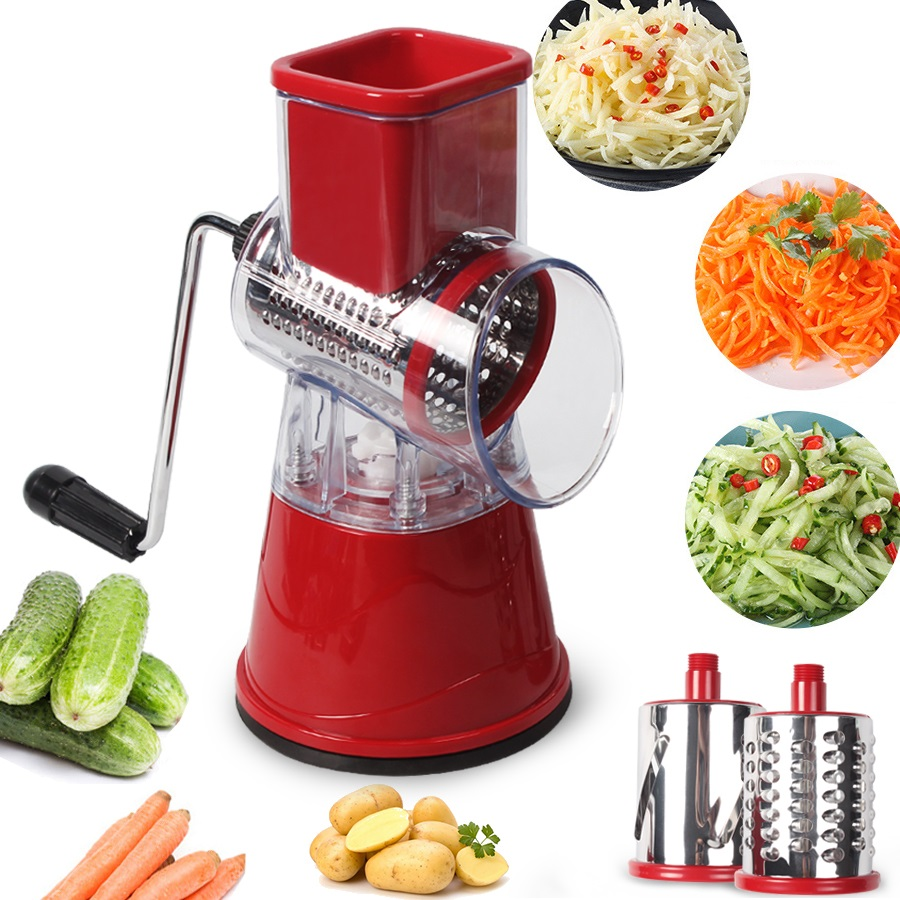 DUOLVQI Manual Vegetable Cutter Slicer Kitchen Tools Multi-functional Round Mandoline Slicer Potato Cheese Kitchen Gadgets