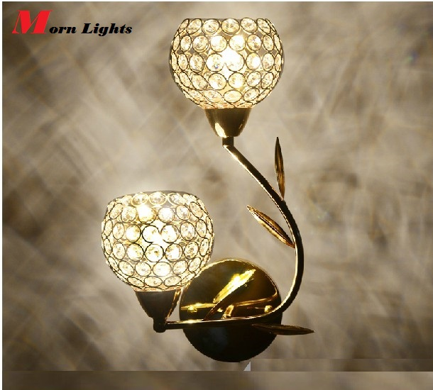 ФОТО Modern Luxury Crystal Wall sconce Lamp bed room lighting wall lamp modern crystal lamp k9 first level self switch