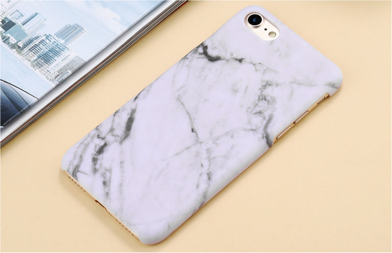 HTB1cyq3PFXXXXcdXVXXq6xXFXXX7 - Marble Pattern Phone Case For iPhone 7 5 5s SE 6 6s Plus Smooth Hard Plastic Phone Back Cover Cases For iPhone7 Plus PTC 131