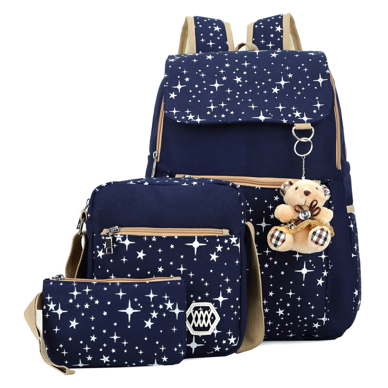 FREE SHIPPING 2016 Girls Backpacks Printing Bookbag Women Backpack With Bear School Bags For Teenagers Cute