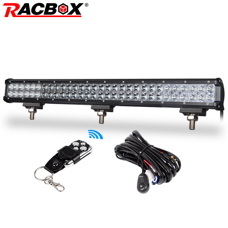 RACBOX 28 inch LED Work Light Bar 180W Spot Flood Beam for Truck Tractor Trailer ATV UTV 4X4 SUV Boat 4WD 12V 24V LED Bar Light